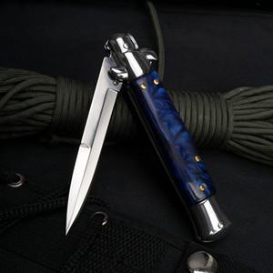 Итальянский AB Godfather Mafia стилет Горизонтальные Tactical Складной нож 5Cr13 Wood Handle Авто Кемпинг Охота Выживание EDC Инструменты