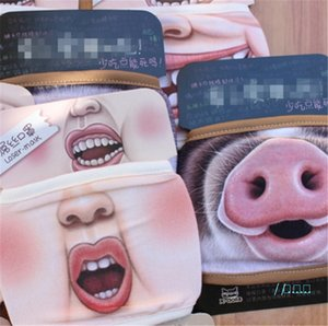 Cotton Dustproof Mouth Face Mask 3D Cartoon Cute Pig Mask Personality Washable For Women Men Face Mouth Masks Party Mask New Arrival D42701