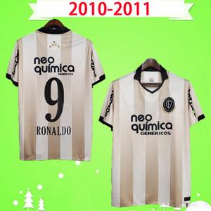 Corinthians Paulista jersey 2010 uniforme 2011 Corinthian Paulista de Futebol Jersey 10/11 casa # 9 RONALDO camisa de futebol clássico Ouro Vintage