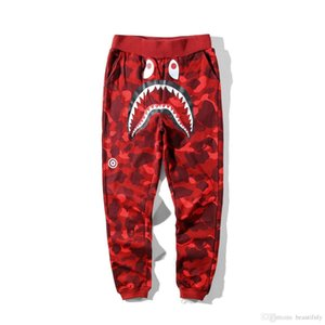 mens designer Pants Ape shark a bathing shorts AApe Japan Jaw Shorts Camo Off Apes head pants White hip hop mens shorts vetements