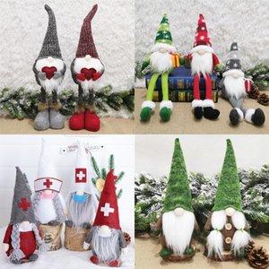 Regali della bambola Babbo Natale Giocattoli nordico Babbo Natale ornamenti lavorati a maglia di Santa bambola di Natale bambini giocattoli di Natale della decorazione della casa AHF256