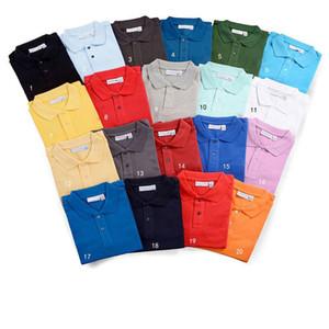uomini lacoste mens progettista delle camice di polo degli uomini di moda di marca coccodrillo polo classici del progettista degli uomini di lusso s pour hommes vendita P13SVJ