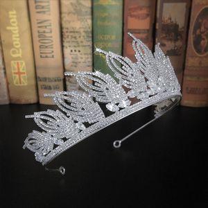 FORSEVEN Parlayan Kristal Prenses Diadem Tiaras ve Kadın Kız mujer 2020 için taçlar Gelin Gelin Noiva Düğün Headbands