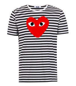 19Style 2020 COM qualità degli uomini Donne Gery Com-mes des Garçons manico totale T-shirt bianca Taglia M decisione sollecita F S