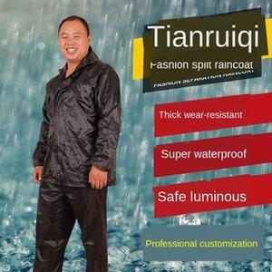 Wandern regen Schutzmantel und regen Hose erwachsenen Split-Single-Layer-Anzug Baustelle Arbeitsschutz reflektierende Regenmantel