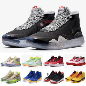2020 Hot Mvp Kevin Durant 12 KD 12 Université anniversaire 12S XII Oreo Enfants Hommes Chaussures de basket États-Unis Elite KD12 Sport Sneakers