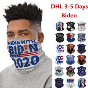 ABD STOK Bisiklet Maskeler Eşarp Unisex Bandana Motosiklet Eşarplar Başörtüsü Boyun Yüz Maske Açık Biden Amerika Büyük 2020 Atkılar tutun