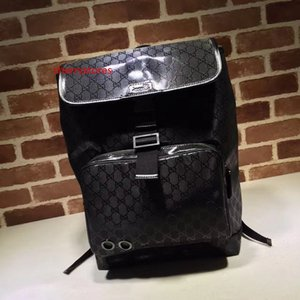 2020 Top Quality Celebrity design Letter embossed Green Belt canvas leather Backpack Man Woman 269378 Black Travel bag