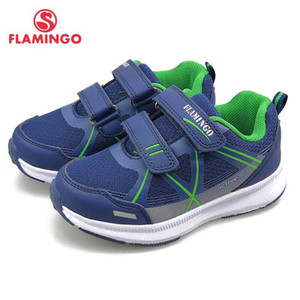 FLAMINGO Spring Leisure Sport Running Children Shoes Hook&Loop Outdoor Navy Sneaker for Boy Size 27-33 Free Shipping 91K-YC-1371