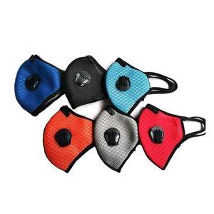 Cycling Face Masks With double breathing valve PM2.5 dustproof Anti-fog Sport Running Mask Washable Designer Masks YYA333