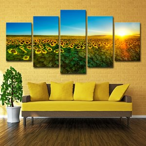 Canvas Wall Art Decor Painting Sunflower Pictures for Bedroom Home Decor Unframed 5 Pieces