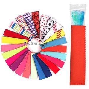 Porte-réutilisable en néoprène Popsicle Popsicle Sacs Congélateur Ice Pop Manches antigels glace Congélateur Pop Manches Ice Pop Manches
