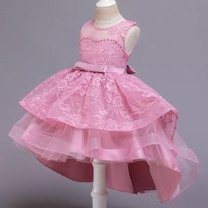 KEAIYOUHUO ребёнки День рождения Пачка платье принцессы для девочек платье партии цветов Свадьба Детская одежда 3-12 лет