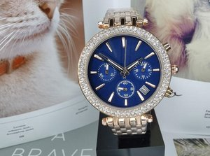Lovers diamond watch Lady White Black Full Functional Wristwatches For Men Fashion Exquisite Women Watches