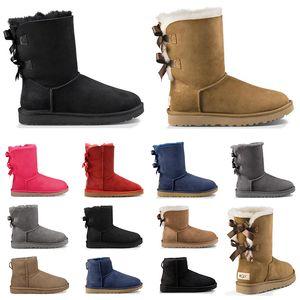 2020 boots australia diseñador botas para mujer clásico tobillo arco corto piel botas nieve invierno triple negro castaño azul marino moda mujer zapatos