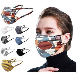 Cyclisme Le port Anti-poussière Coton bouche Masque Masque unisexe Homme Femme Noir Blanc Stripe Mode WX20-30