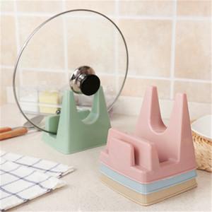 Colorful multi purpose belt water tray tank pot rack kitchen supplies plastic chopping block rack tool holder cutting board rack LZ0494