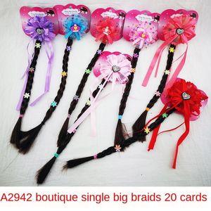 A2942 Boutique único, gran braidchain accesorios para el cabello trenzado de la peluca de la mariposa del arco de la princesa cadena peluca niñas
