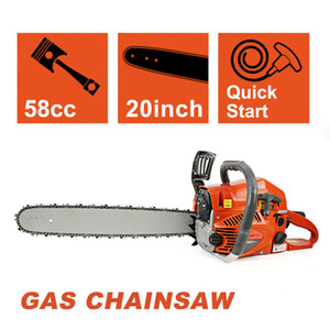 New 20 '' Gas Chainsaw 58cc Madeira Cuttiing cárter Gasolina alumínio Serra de cadeia