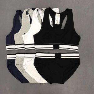 Women's underwear suit 2 Piece set Vest + brief Bras Sets Underwear Suits 2 Piece set Women short women brief suits sport Tracksuit new