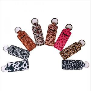Неопрен держатель брелок Wristlet Marble Leopard Printed Обложка Помада держатель сумка браслет брелок новизна партия благосклонность Подарки LJJP244