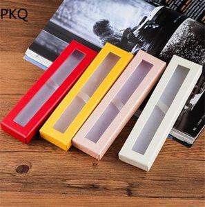 plastik şeffaf pvc pencere ile pencere hediye paketleme karton kutu ile kağıt karton Kalem kutusu