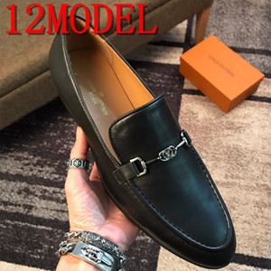 38-45 Black luxurious Mens Wedding Loafers Men Business Shoes Leather Formal Shoes Men Office Oxford Shoes Zapatos De Vestir Para Hombre