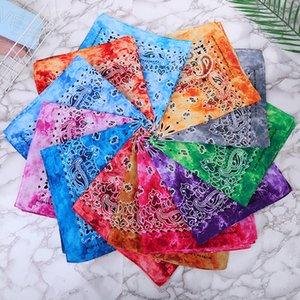 55 * 55CM Paisley Bandana Tie Dye Magie Hip-Hop-Kopf-Verpackungs-Armband-Stirnband-Doppelseitendruck-Multifunktionstuch Silk HHA1486
