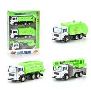 1:55 Car Fire Fire Cartoon Model Vehicle Toy Truck Sanitation Regalo Refue Alloy Truck Car Mini Boys per 06 JPCBF