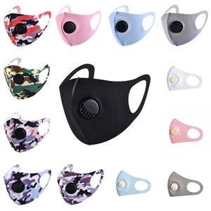 Ice Silk Gesichtsmaske mit Atemventil Waschbar Sommer Maske Wiederverwendbare Anti-Staub-PM2.5 Schutzmasken feste Papiermaske