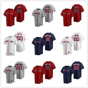2020 Red Sox Jackie Bradley Jr. Jersey der Männer Frauen Kinder David Price Xander Bogaerts Pedro Martinez George Kell Red Baseball Individuelle
