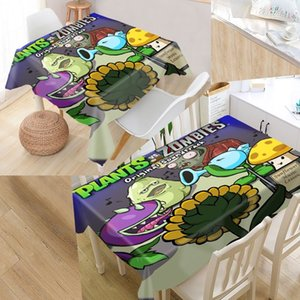 Plant VS Zombie Table Cover Printing Waterproof Tablecloth More Size Tablecloths Kitchen Wedding Hotel Decoration T200708