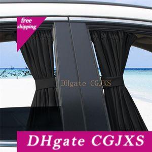 2 X 50 조정 검은 색 자동차 사이드 윈도우 차양 범용 자동 후면 블록 인터 커튼 UV 태양 그늘 바이저