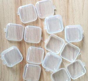 뚜껑 작은 상자 보석 귀 플러그 스토리지 박스 지원 패턴 사용자 정의 A10 미니 명확한 플라스틱 저장 용기 상자 케이스