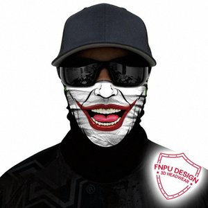 3D 두건 해골 위장 머리띠 사이클링 얼굴 야외 목 버프 조커 익명 넥 게이터 안면 보호구 원활한 두건 90cy 번호 마스크