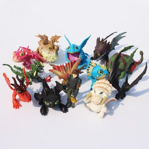 Train Dragon PVC Figure Toys Cartoon Classic Toothless Skull Gronckle Deadly Nadder Night Fury Dragon Figures TTA379