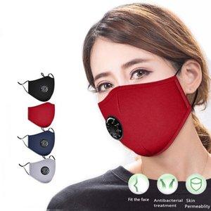 أقنعة الوجه القطن مع الأسود التنفس الكربون Fliter الحشو مكافحة الغبار قابل للتعديل قابلة لإعادة الاستخدام واقية 2 PM2.5 الفلاتر الفم قناع FY0016