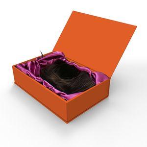 Ímã feito sob encomenda dobradura de papel do bloco liso Caixas Perucas Embalagem boxesLuxury Gift Box magnético com Magnet Closure