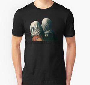 Männer T-Shirt The Lovers Rene Magritte Surreal Malerei Kunstliebhaber Geschenk T-Shirt Slim Fit T-Shirt gedrucktes T-Shirt T-Shirt oben