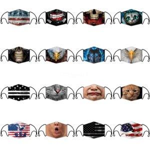 Máscara PPE niños reutilizable del polvo anti Gotitas de mascarillas de Bling de la cara para la máscara de papel Haze Boca PM 2.5 Filtros Ciclismo máscara con la válvula Pm2 5 Filte # 278