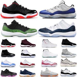 금속 남성 여성 11 개 농구 신발 높은 11S Jumpman 스페이스 잼 모자와 가운 스니커즈는 콩코드 (45) 감마 블루 낮은 스네이크 스킨 트레이너를 사육