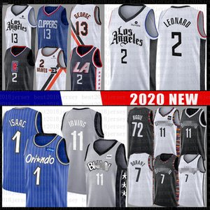 Kawhi Paul 2 George Leonard pallacanestro Jersey Clipper netto Kevin Durant Kyrie Irving 72 Biggie Jonathan 1 Isaac Magics LA