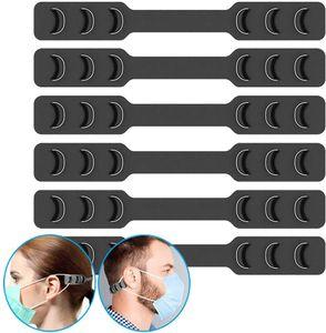 Máscara del gancho del oído de la correa de la hebilla del extensor de 3 engranajes ajustable antideslizante del oído protector del oído Savers especial para aliviar la máscara largo tiempo llevaba las orejas