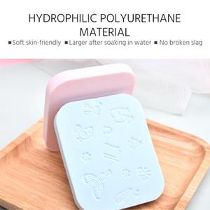 9pcs Facial Cleansing Sponge Puff Face Cleaning Wash Pad Puff Soft Makeup Seaweed Sponge Makeup Cleansing Face Sponge