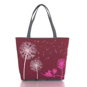 Luggage & Fashion Dandelion Canvas Bag Flowers Women Handbag Shoulder Bags Women Messenger Bags New