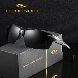Dubery sin rebordes Lentes de sol polarizadas de conducción Hombres Alto Qaulity de seguridad Gafas de sol UV400 Sombras Gafas de sol con el caso