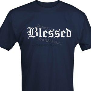2019 Moda Hot Sale Mens Unisex Christian Religion T-shirt ABENÇOADO Jesus Igreja religiosa camisa Tee Present