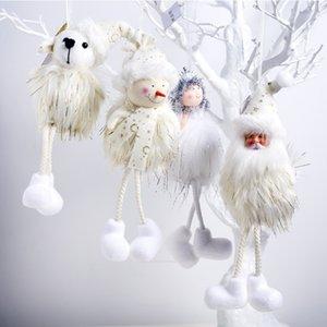 Santa Claus   Snowman   Elk Angel Christmas Doll Pendant Christmas Hanging Doll Festival Home Decoration