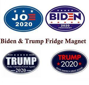 Dolabı Magnet Mutfak Aletleri 2020 Joe Biden ve Trump ABD Başkanlık Seçim Mektupları Araç plakası MANYETİK Su geçirmez Sticker Süsler