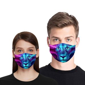 3D Animals Face Mask Cotton Reusable Face Masks Summer Out Door Sport Riding Mascaras Fashion Cloth Face Masks for Adults Wholesale